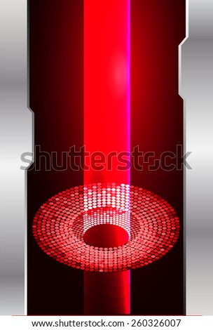 Dark red color Light Abstract Technology background for computer graphic website internet. circuit. silver.  - stock vector
