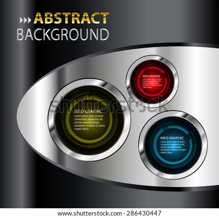 dark red yellow blue black silver Web Design Website Elements Template for graphic internet. text box. label. info graphics. metal. card. pixel. Metals, alloys, steel, aluminum. button. infographics - stock vector