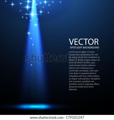 dark spotlight background for your business - stock vector