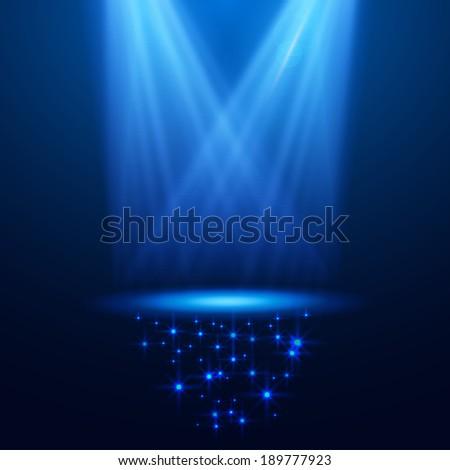 dark spotlight background for your business  vector - stock vector