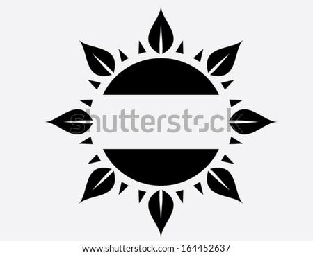dark sun - stock vector