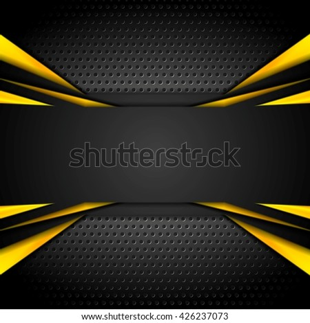Dark tech corporate abstract background. Vector illustration - stock vector