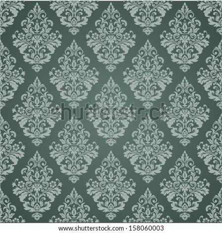 Dark  texture tile, wallpaper. Floral pattern. A seamless vector. - stock vector