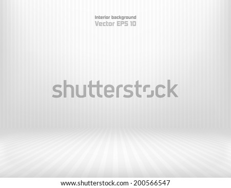 Dark vintage striped room. EPS 10 vector illustration. Used transparency layer of wall and floor - stock vector