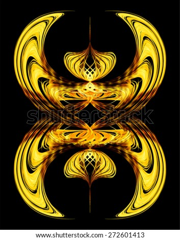 dark yellow gold color Light Abstract Technology background for computer graphic website internet and business. black background. Seamless wallpaper pattern. wave - stock vector
