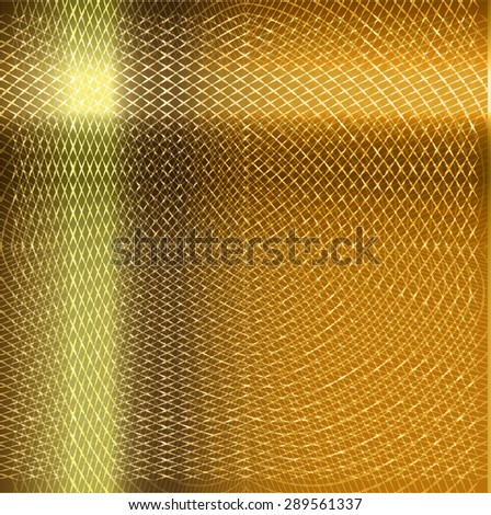 dark yellow gold metal texture abstract background - stock vector