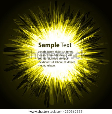 Dark yellow Light Abstract Technology background for computer graphic website internet. circuit.  - stock vector