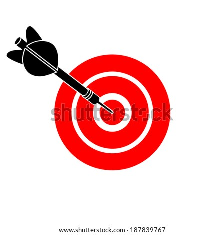 darts dart in a target - stock vector