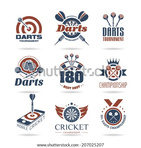 Darts icon set - 2 - stock vector