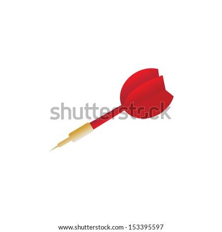 darts target vector cartoon style - stock vector