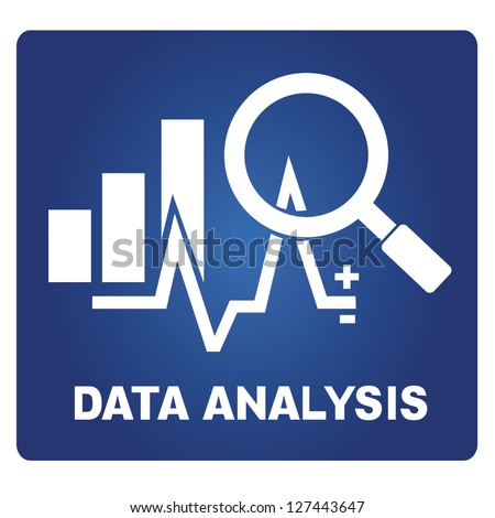 data analysis - stock vector