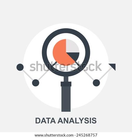 Data Analysis - stock vector