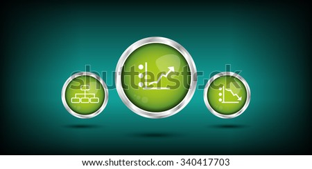 Data analytic icons set. - stock vector
