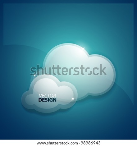 Data clouds vector background - stock vector