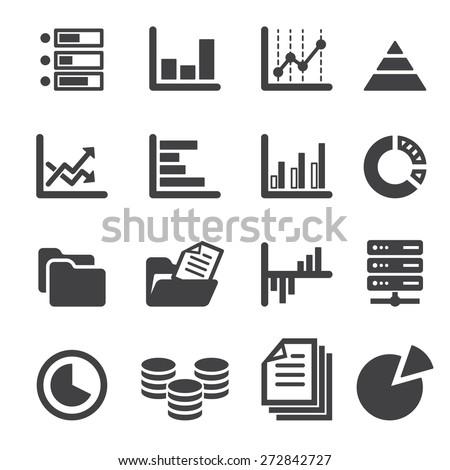 data icon set - stock vector