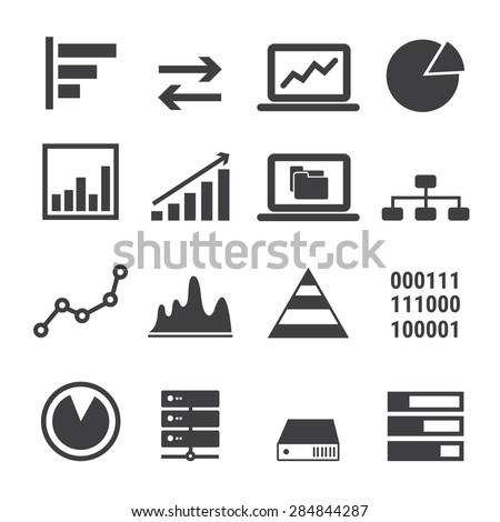 data icon set - stock vector