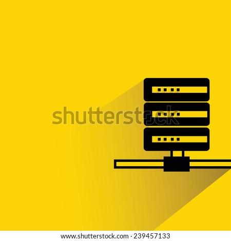 data server, router - stock vector
