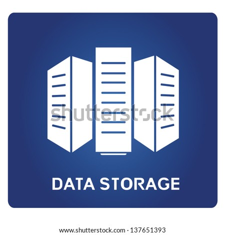 data storage - stock vector