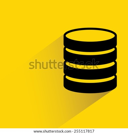 database - stock vector