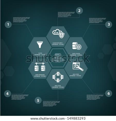 Database computer concept,vector - stock vector