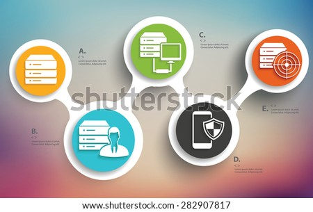 Database info graphic design, Business concept design. Clean vector. - stock vector
