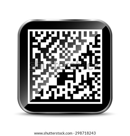 Datamatrix App Icon - stock vector