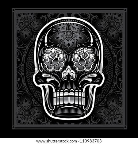 Day of the Dead Candy Skull - stock vector