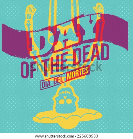 Day of the Dead Concept Vector Illustration - stock vector