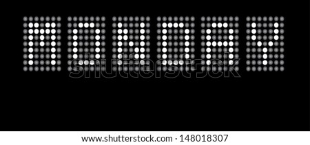 Day of Week in Dots - Monday - EPS10 - stock vector