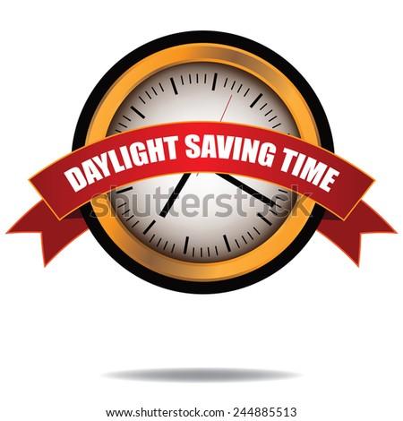 Daylight saving Time clock icon EPS 10 vector stock illustration - stock vector