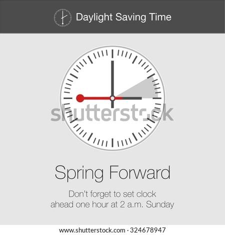 Daylight Saving Time Vector Template - stock vector
