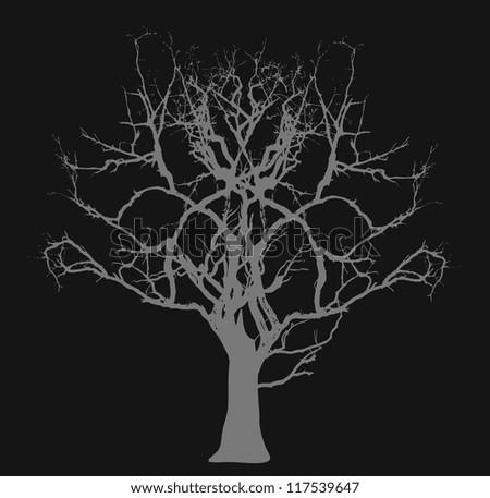 Dead Tree - Halloween Concept - stock vector