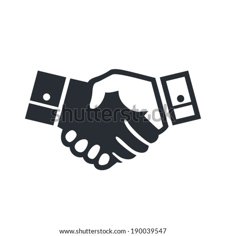 Deal handshake sign Branding Identity Corporate vector logo design template Isolated on a white background - stock vector