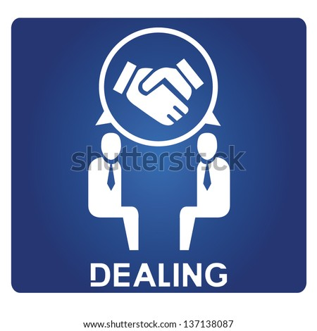dealing - stock vector