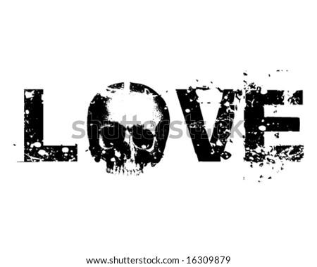 Death Love vector Illustration - stock vector
