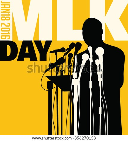 Dec. 29, 2016. Illustration of Martin Luther King, Jr.  to celebrate MLK day. - stock vector
