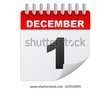 december day - stock vector
