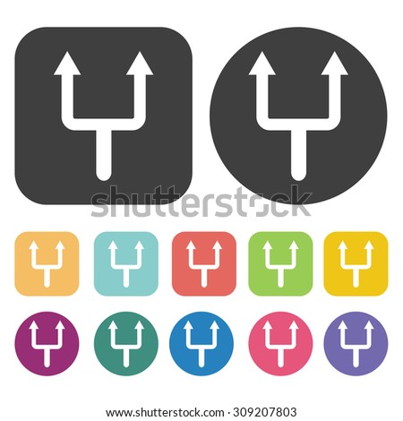 Decision choice icons set. Vector Illustration eps10