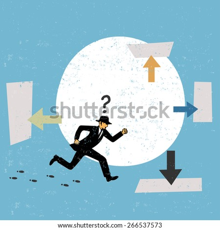 Decision making concept in business - stock vector