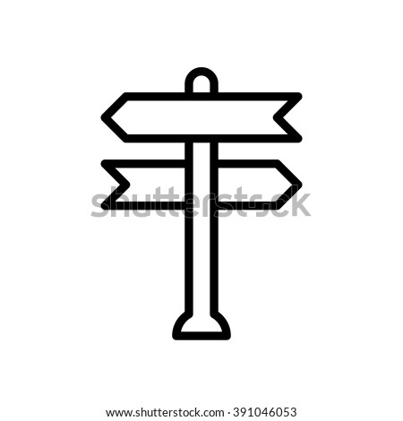 Decision making, vector illustration, outline stroke business icon. - stock vector