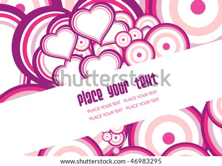Declaration / Flyer / Invitation - stock vector