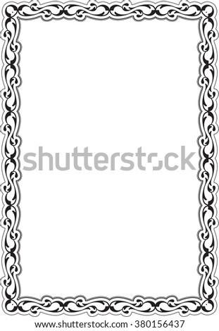 Decor renaissance frame isolated on white - stock vector