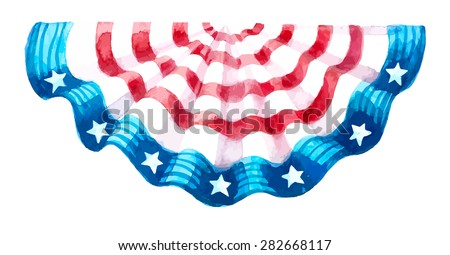 decor usa independence day - stock vector