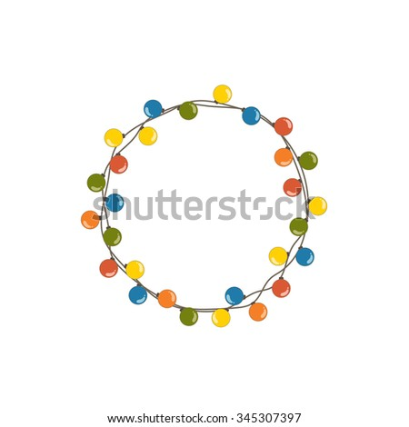 Decorate Christmas lights vector design illustration. - stock vector