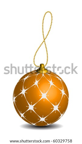 Decoration Christmas ball - stock vector