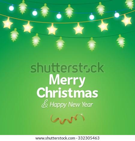 Decoration christmas light background - stock vector