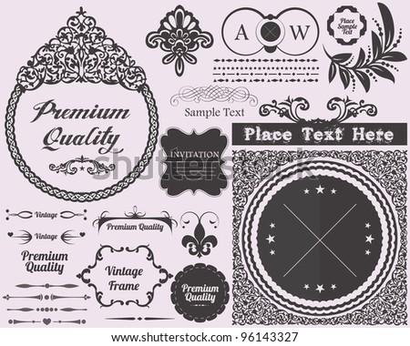 Decoration Elements Vector Design - stock vector