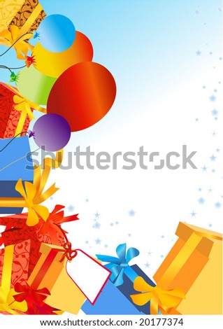Decoration for birthday and party, vector - stock vector