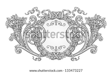 Decoration frame vector - stock vector