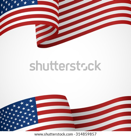 Decoration of United States of America insignia on white - stock vector